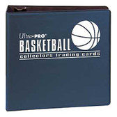 "3"" Ultra Pro Basketball Navy 3-Ring Binder + 50 Pages of Top Loading 9-pocket"
