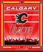 Calgary Flames Doorblaster Lit Animated Signs with VisiLight Action