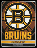 "Boston Bruins 46"" x 60"" Raschel Plush NHL Super Throw Blanket"