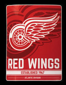 "Detroit Red Wings 46"" x 60"" Raschel Plush NHL Super Throw Blanket"