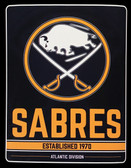 "Buffalo Sabres 46"" x 60"" Raschel Plush NHL Super Throw Blanket"