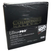 "Ultra Pro 3"" Collectors Set Black 3-Ring Album Binder With 100 9-pocket Pages"