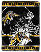 "CFL Hamilton Tiger Cats 45"" x 60"" CFL Super Plush Throw Blanket"