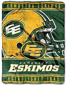 "CFL Edmonton Eskimos 45"" x 60"" CFL Super Plush Throw Blanket"
