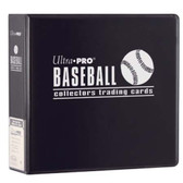 "3"" Ultra Pro Baseball Black 3-Ring Binder + 50 Pages of Top Loading 9-pocket"
