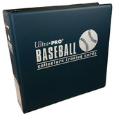 "3"" Ultra Pro Baseball Navy Blue 3-Ring Binder + 50 Pages of Top Loading 9-pocket"