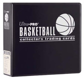 "3"" Ultra Pro Basketball Black 3-Ring Binder + 50 Pages of Top Loading 9-pocket"