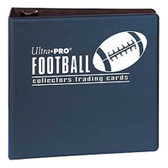 "3"" Ultra Pro Football Navy 3-Ring Binder + 50 Pages of Top Loading 9-pocket"