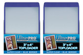 """50 Ultra Pro 3"""" x 4"""" Toploaders with Blue Border sports card storage protection"""