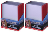 """50 Ultra Pro 3"""" x 4"""" Toploaders with Red Border sports card storage protection"""