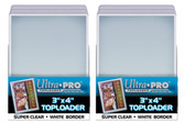 """50 Ultra Pro 3"""" x 4"""" Toploaders with White Border sports card storage protection"""