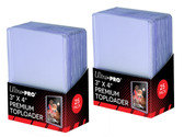 """50 Ultra Pro Premium Clear 3"""" x 4"""" Toploaders sports cards storage protection"""