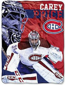 "Carey Price Montreal Canadiens 50"" x 60"" Silk Touch Plush Throw Blanket"