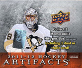 2011-12 Upper Deck Artifacts hockey cards Hobby box