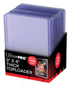 "25 Count Ultra Pro 3"" X 4"" 100 Point Super Thick Toploaders for sports cards"