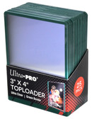 "25 Count Ultra Pro 3"" x 4"" Toploaders with Green Border sports card storage protection"
