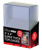 "10 Count Ultra Pro 3"" X 4"" 120 pt Super Thick Toploaders for sports cards"