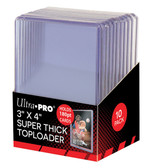 "10 Count Ultra Pro 3"" X 4"" 180 pt Super Thick Toploaders for sports cards"