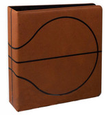 "3"" BCW Basketball Textured 3-Ring Premium Collectors Brown Binder"
