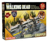 Mcfarlane The Walking Dead Construction Set: Daryl Dixon with Chopper