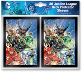 DC Comics Pack of 80 Card Game Sleeves - Justice League