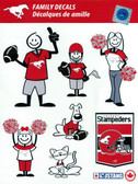 Calgary Stampeders CFL Family Decal Set of Window Stickers