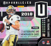 2018 Panini Unparalleled NFL Football Cards Box