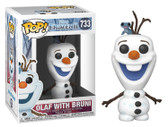 "Pop! Disney 733 Frozen 2 Olaf with Bruni 3.75"" Vinyl Figure"
