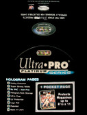 Ultra Pro 1-Pocket 8.5 x 11 Platinum Pages 100 Count For Magazines and Comics