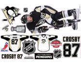Sidney Crosby Customized Reusable Mini Wall Graphics 15 Piece Stickers, UR World