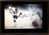 Steven Stamkos Autographed Frame with Puck Slap Shot Series Framed UDA
