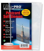 "Ultra Pro 3 11/16"" x 5 3/4"" Soft Sleeves for Vintage Postcards 100 Count"