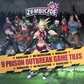 Zombicide Prison Outbreak Pack of 9 Double Sided Game Tiles