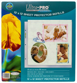 "12"" x 12"" Size Sheet Protector Pages 10ct Pack for Scrapbooking"