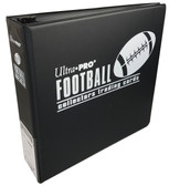 "3"" Ultra Pro Football Black 3-Ring Binder + 50 Pages of Top Loading 9-pocket"