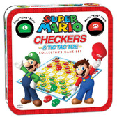 Checkers & Tic-Tac-Toe Collector's Game Set: Super Mario Edition