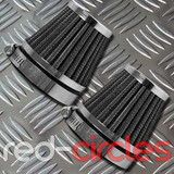 50mm PITBIKE K&N STYLE AIR FILTERS (2 PACK)