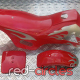 MINI DIRT BIKE PLASTICS SET - RED / WHITE
