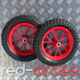 MINI DIRT BIKE WHEELS SET - RED