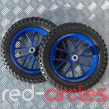 MINI DIRT BIKE WHEELS SET - BLUE