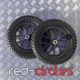 MINI DIRT BIKE WHEELS SET - BLACK