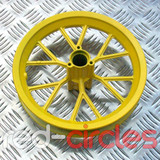 MINI DIRT BIKE WHEEL FOR TYRE SIZE 12.5 X 2.75 - YELLOW