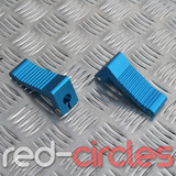 HEAVY DUTY MINIMOTO FOOTRESTS - BLUE