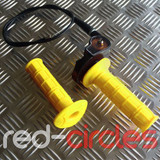 PITBIKE / ATV QUICK ACTION THROTTLE SET - YELLOW
