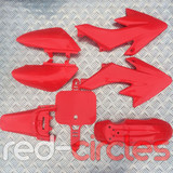 CRF50 STYLE PITBIKE PLASTIC SET - RED (WITHOUT SEAT PAD)