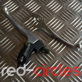 CHROME PITBIKE CLUTCH & BRAKE LEVER SET - (NON-FOLDING)