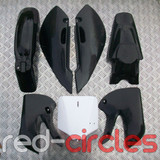 BLACK KLX PLASTICS SET - NO SEAT PAD