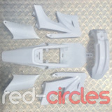 APOLLO STYLE PITBIKE PLASTICS SET - WHITE (WITHOUT SEAT)