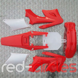 APOLLO STYLE PITBIKE PLASTIC SET - RED (WITHOUT SEAT)
