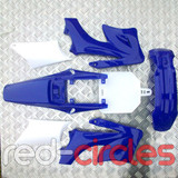 APOLLO STYLE PITBIKE PLASTIC SET - BLUE (WITHOUT SEAT)